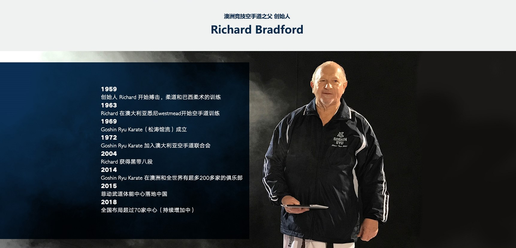 菲动儿童武道体能中心-澳洲竞技空手道之父Richard Bradford